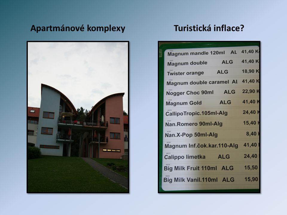Apartmánové komplexy Turistická inflace