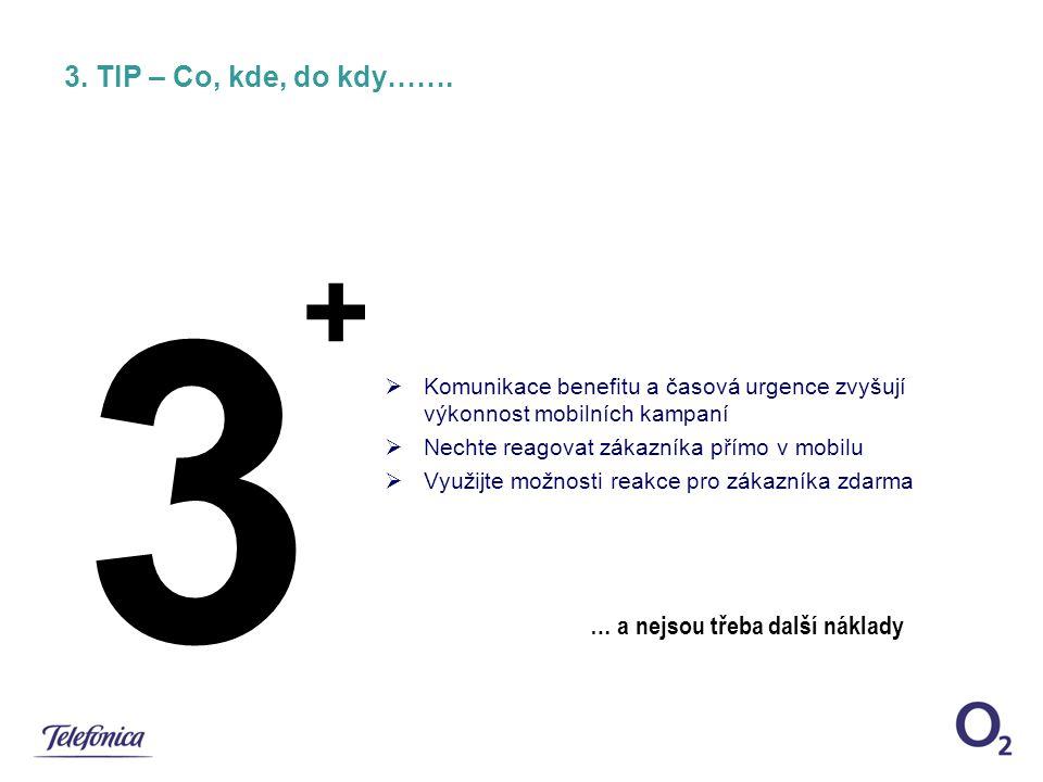 3 + 3. TIP – Co, kde, do kdy……. … a nejsou třeba další náklady