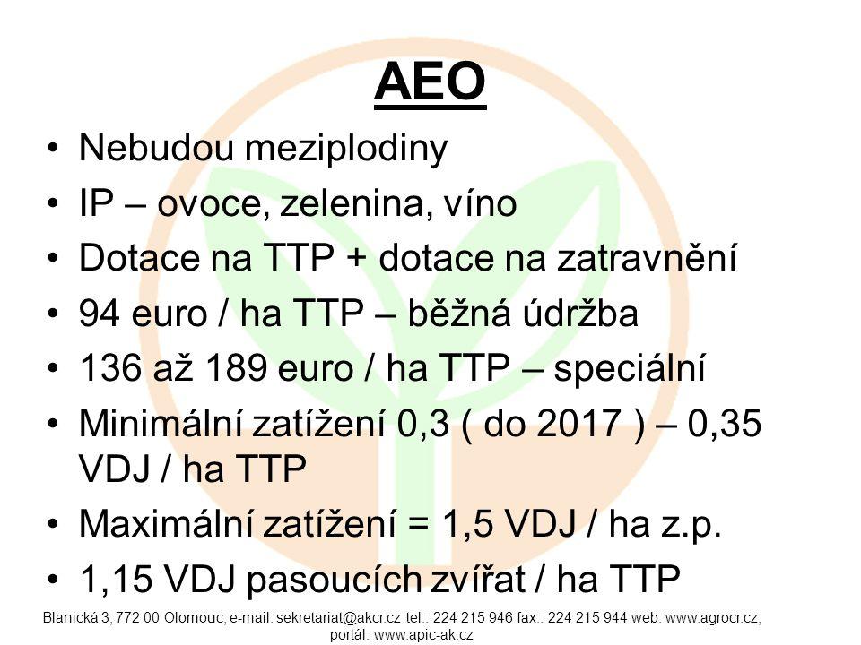 AEO Nebudou meziplodiny IP – ovoce, zelenina, víno
