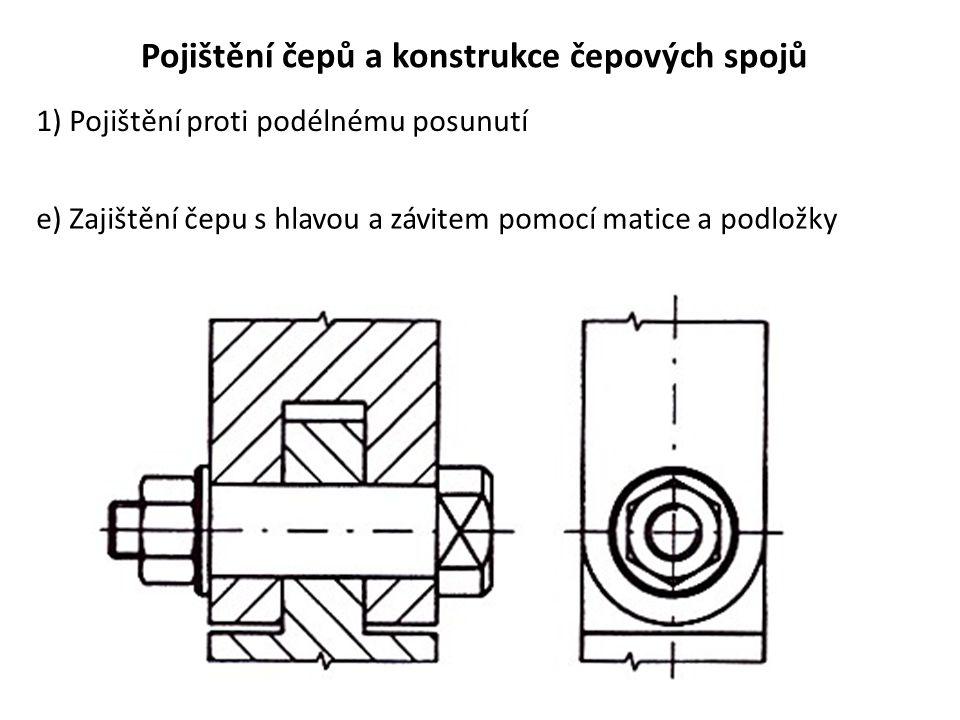 Pojištění čepů a konstrukce čepových spojů