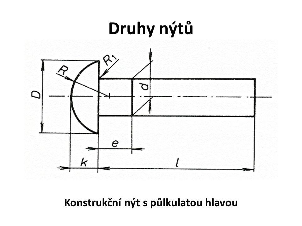 Konstrukční nýt s půlkulatou hlavou