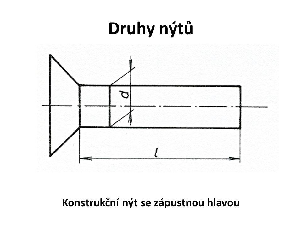 Konstrukční nýt se zápustnou hlavou