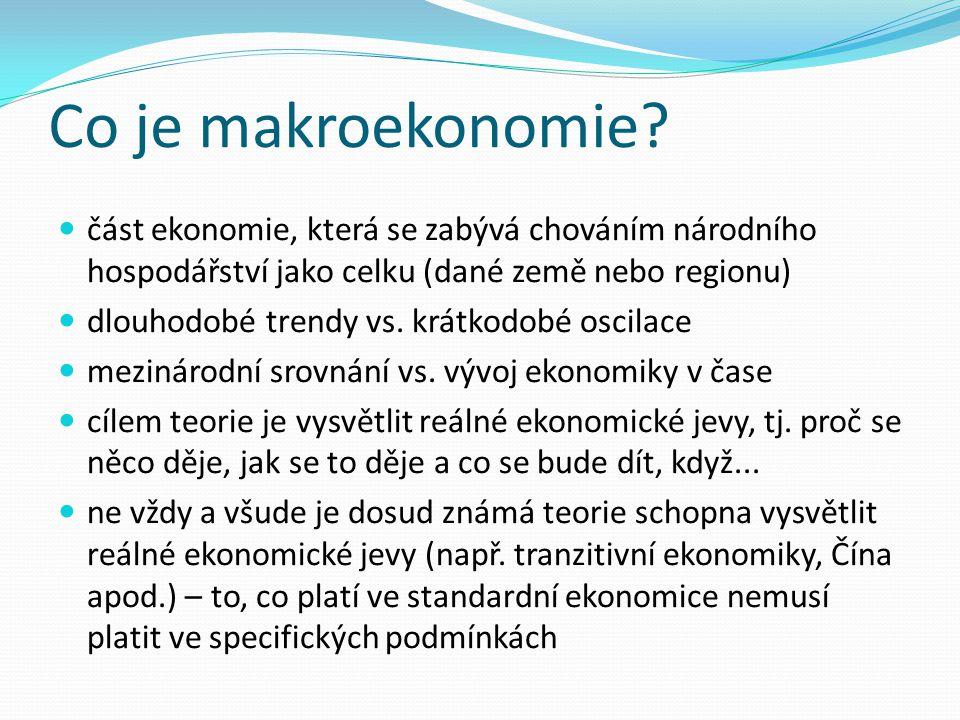 Co je makroekonomie část ekonomie, která se zabývá chováním národního hospodářství jako celku (dané země nebo regionu)