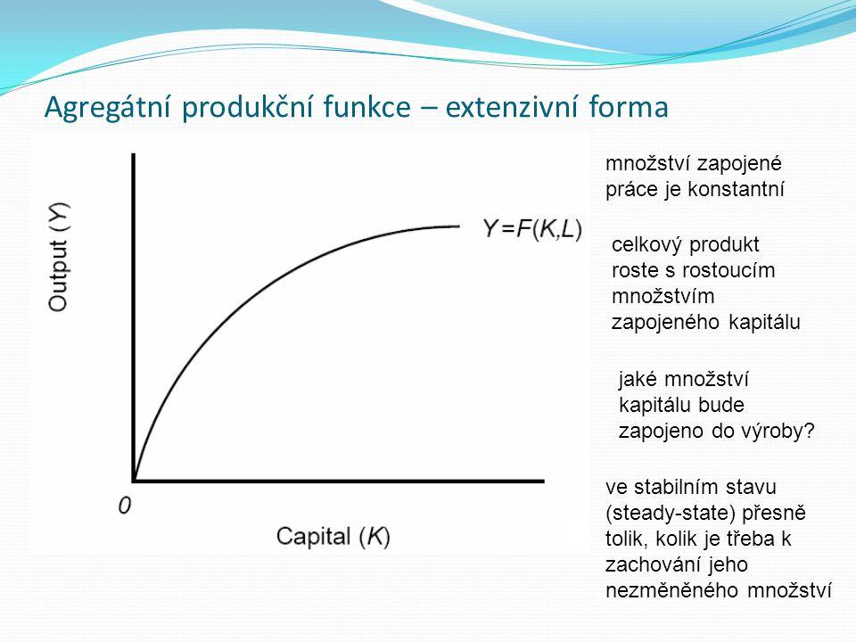 Agregátní produkční funkce – extenzivní forma