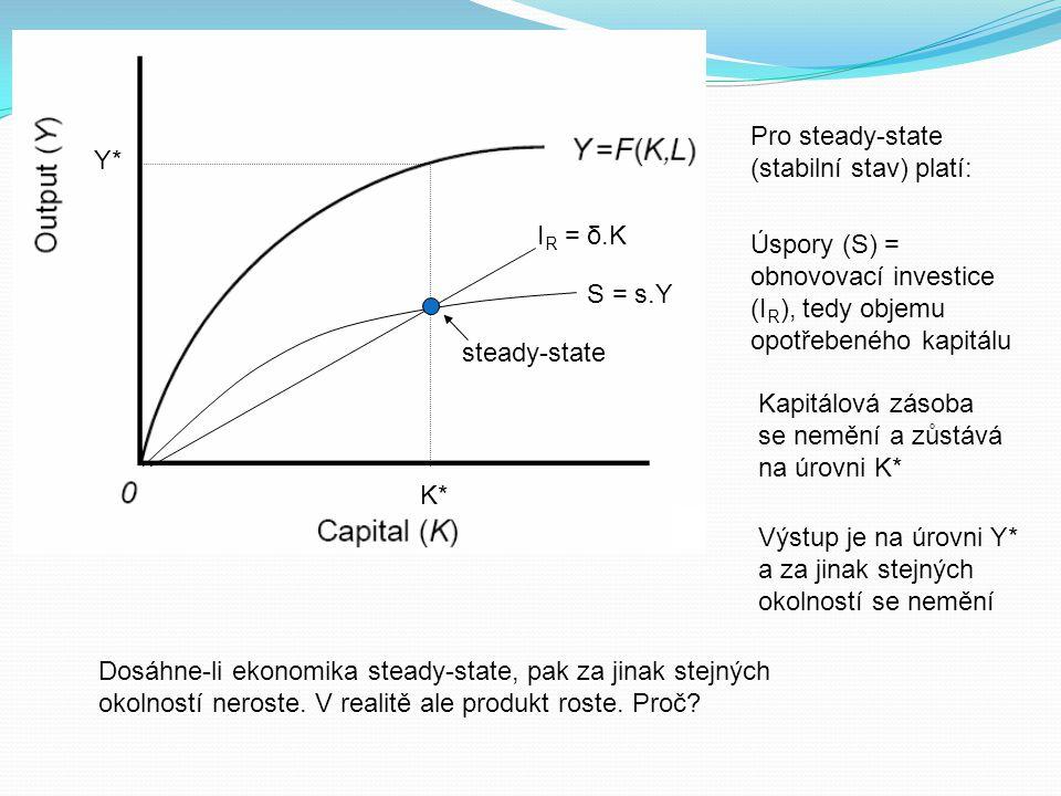 Pro steady-state (stabilní stav) platí: