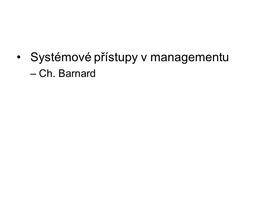 Systémové přístupy v managementu