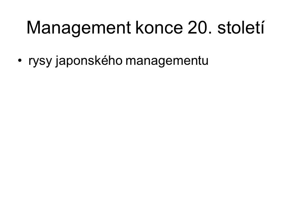 Management konce 20. století