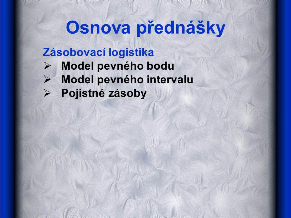 Osnova přednášky Zásobovací logistika Model pevného bodu