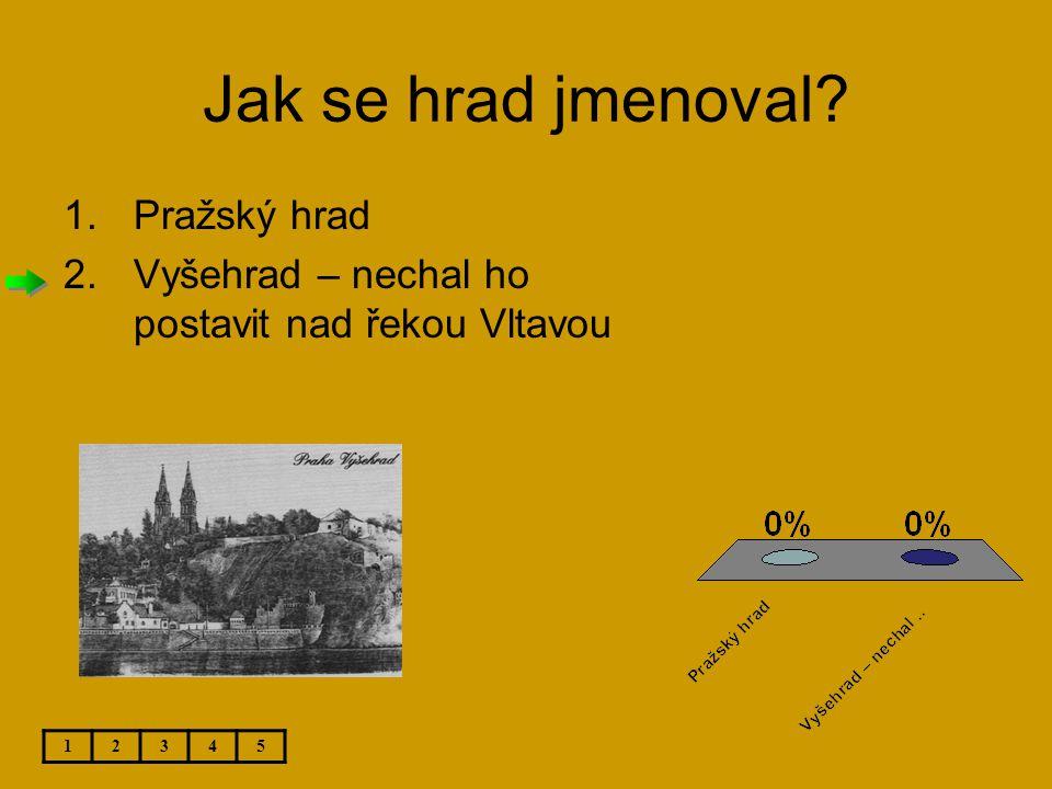 Jak se hrad jmenoval Pražský hrad