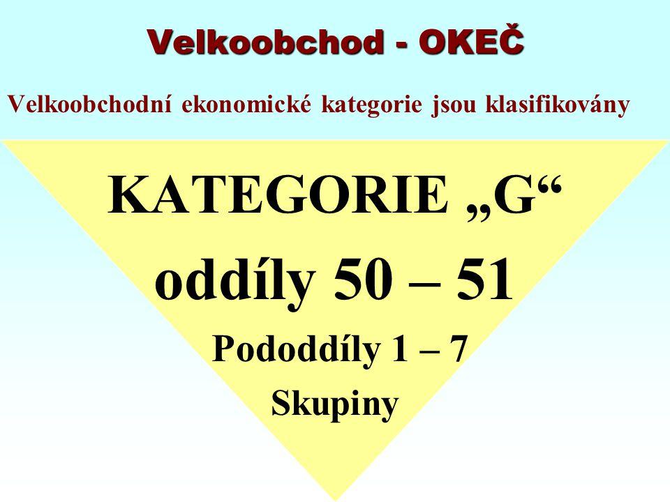 """oddíly 50 – 51 KATEGORIE """"G Pododdíly 1 – 7 Skupiny"""