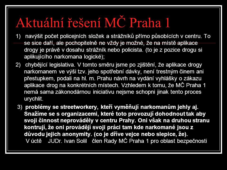 Aktuální řešení MČ Praha 1