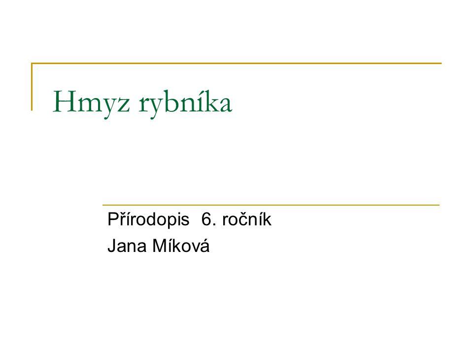 Přírodopis 6. ročník Jana Míková