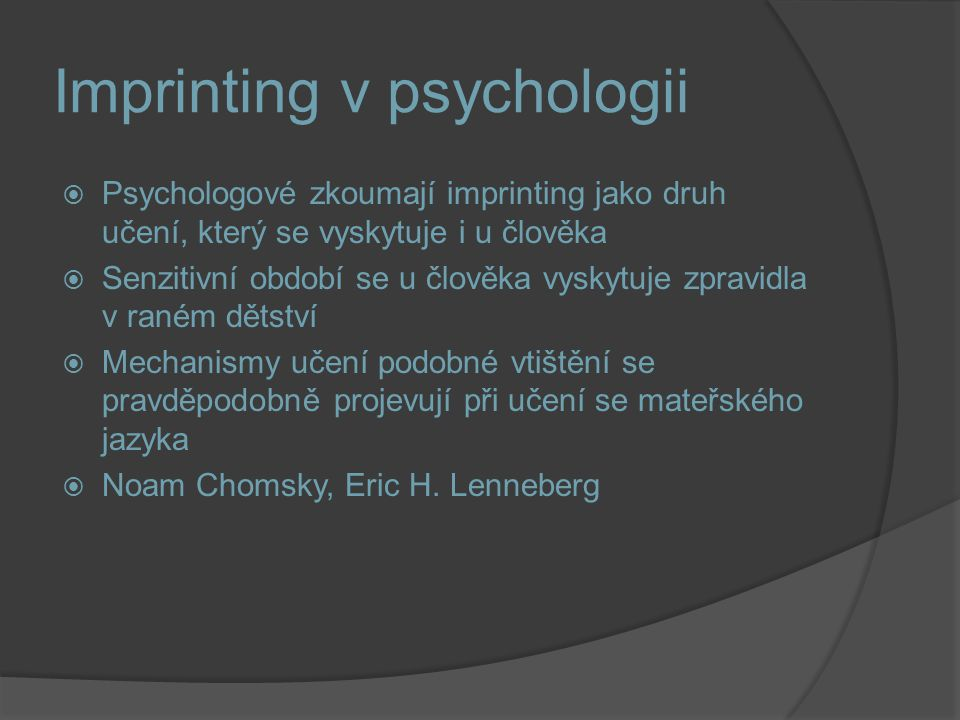 Imprinting v psychologii