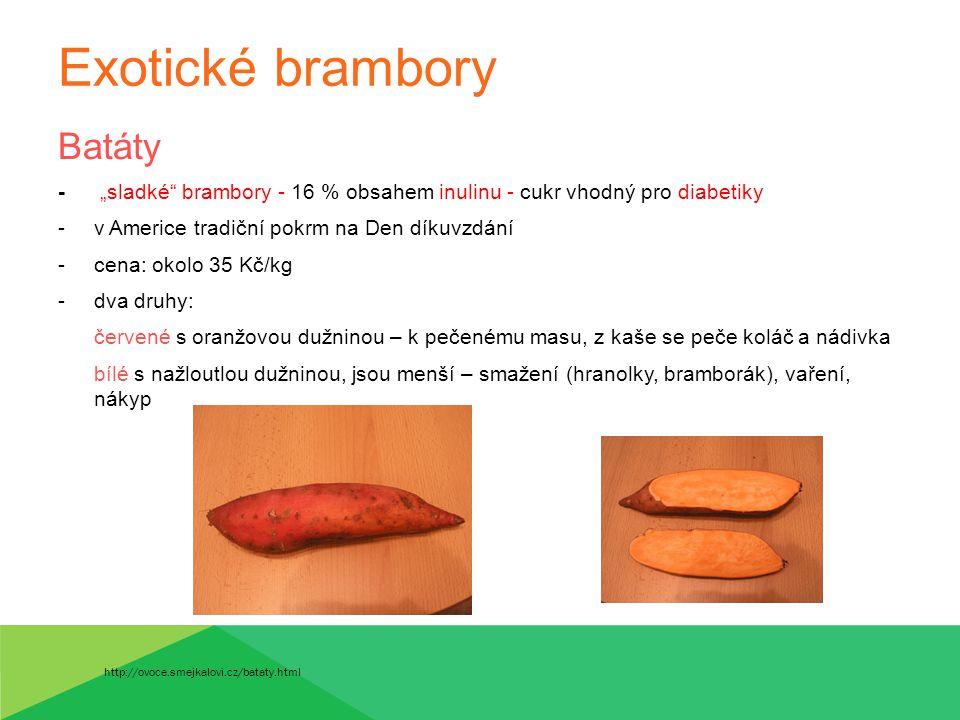 Exotické brambory Batáty