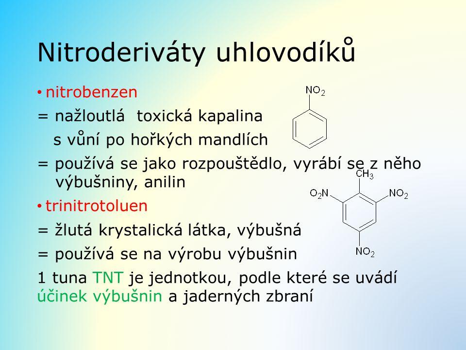 Nitroderiváty uhlovodíků