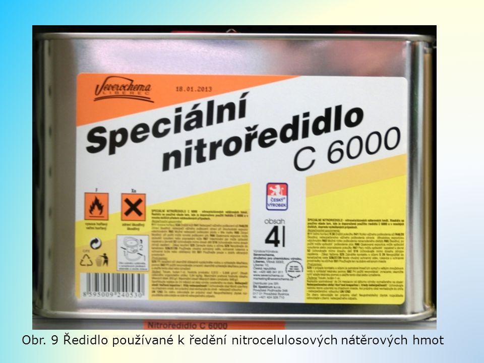 Obr. 9 Ředidlo používané k ředění nitrocelulosových nátěrových hmot