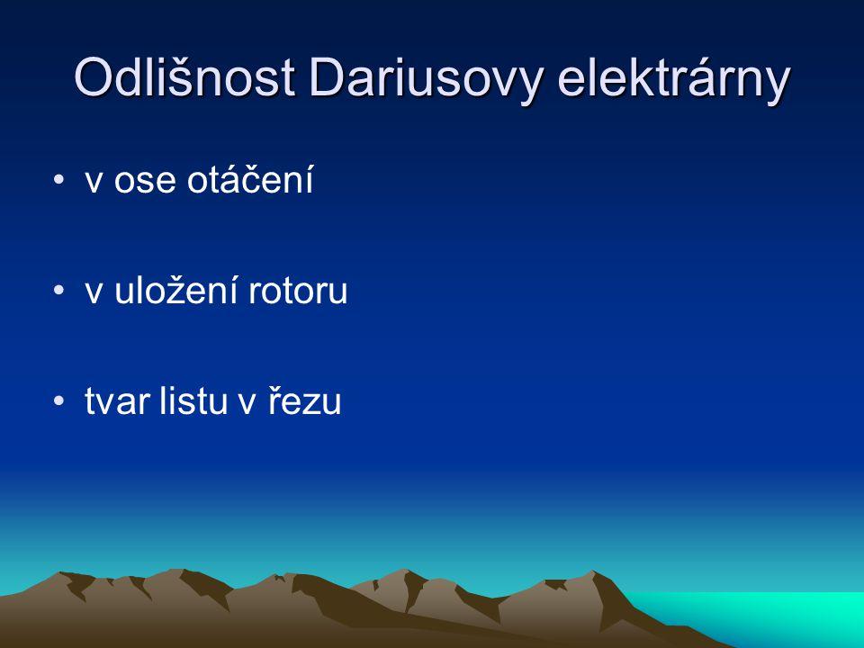 Odlišnost Dariusovy elektrárny
