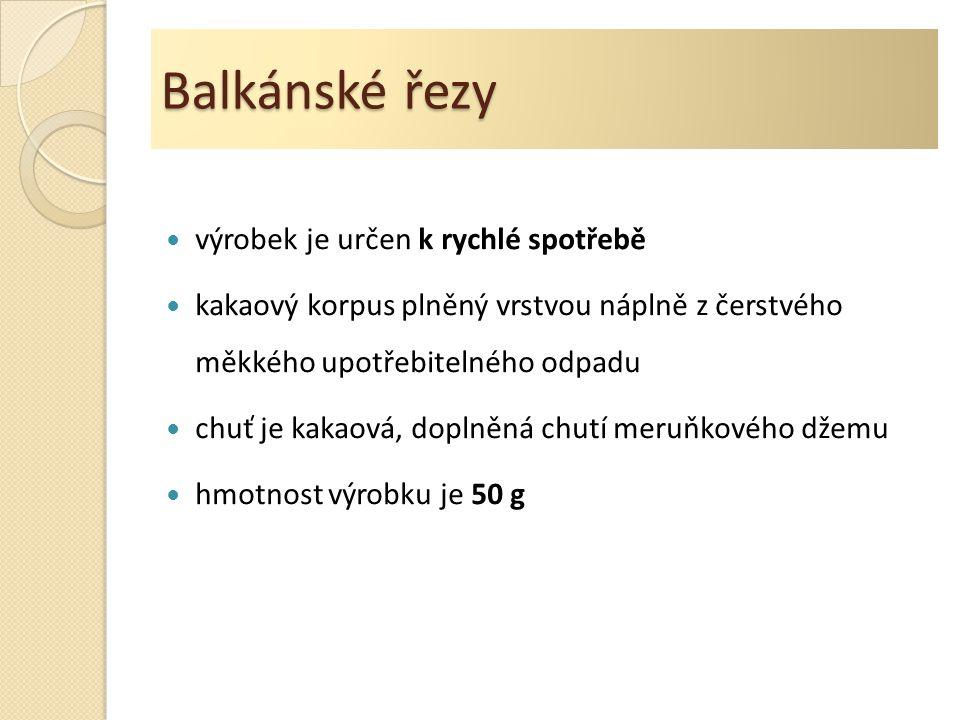 Balkánské řezy výrobek je určen k rychlé spotřebě