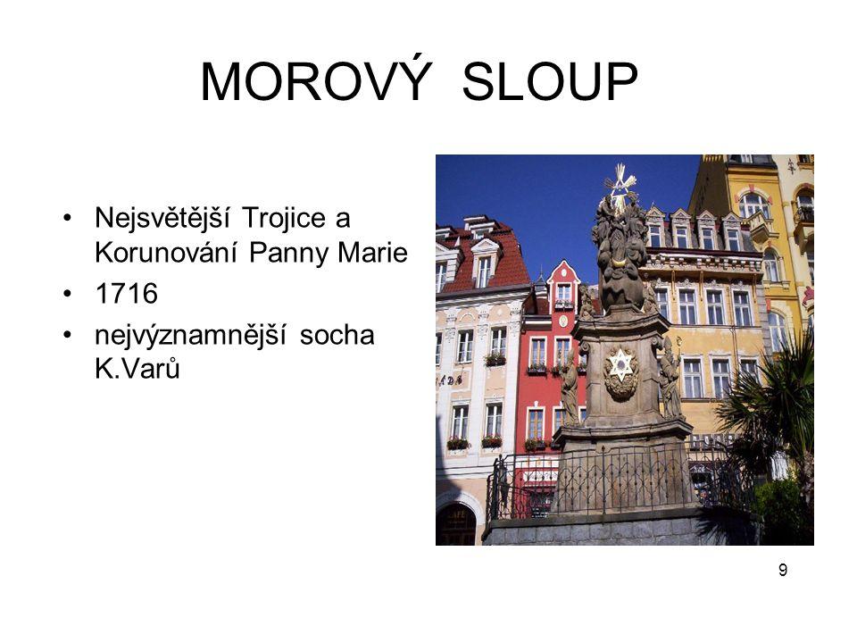 MOROVÝ SLOUP Nejsvětější Trojice a Korunování Panny Marie 1716