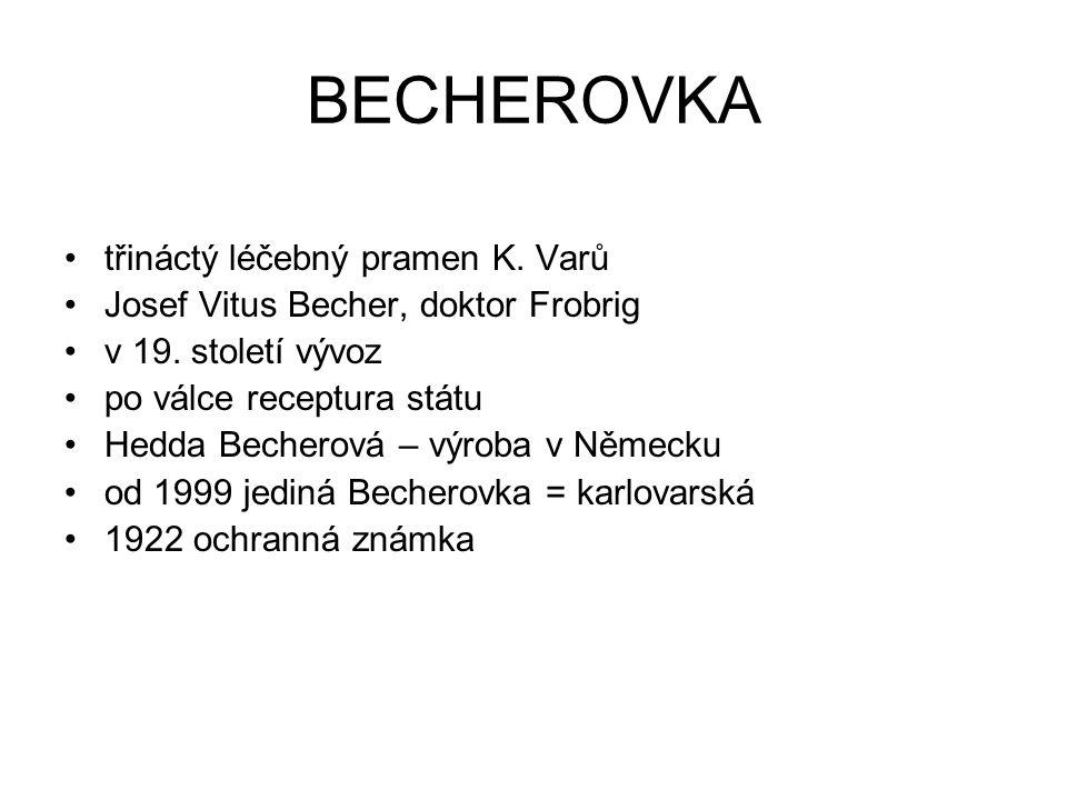 BECHEROVKA třináctý léčebný pramen K. Varů