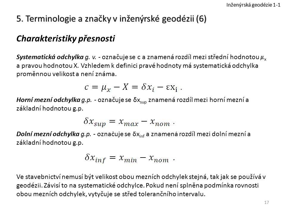 5. Terminologie a značky v inženýrské geodézii (6)