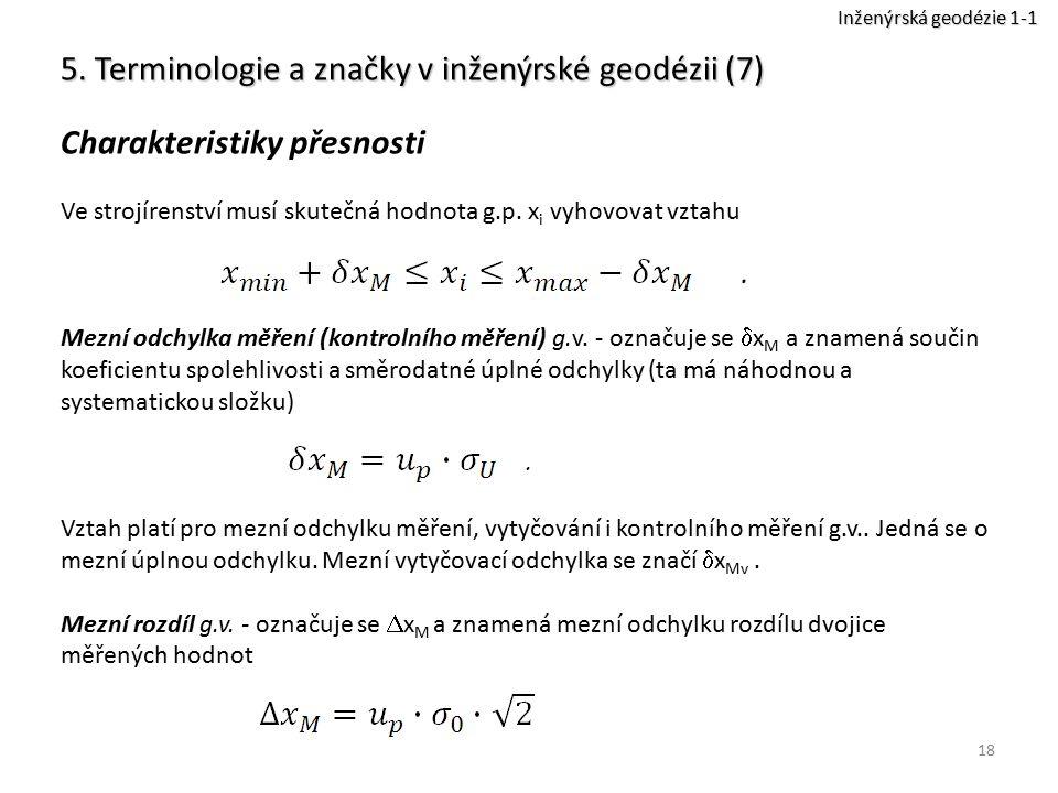 5. Terminologie a značky v inženýrské geodézii (7)