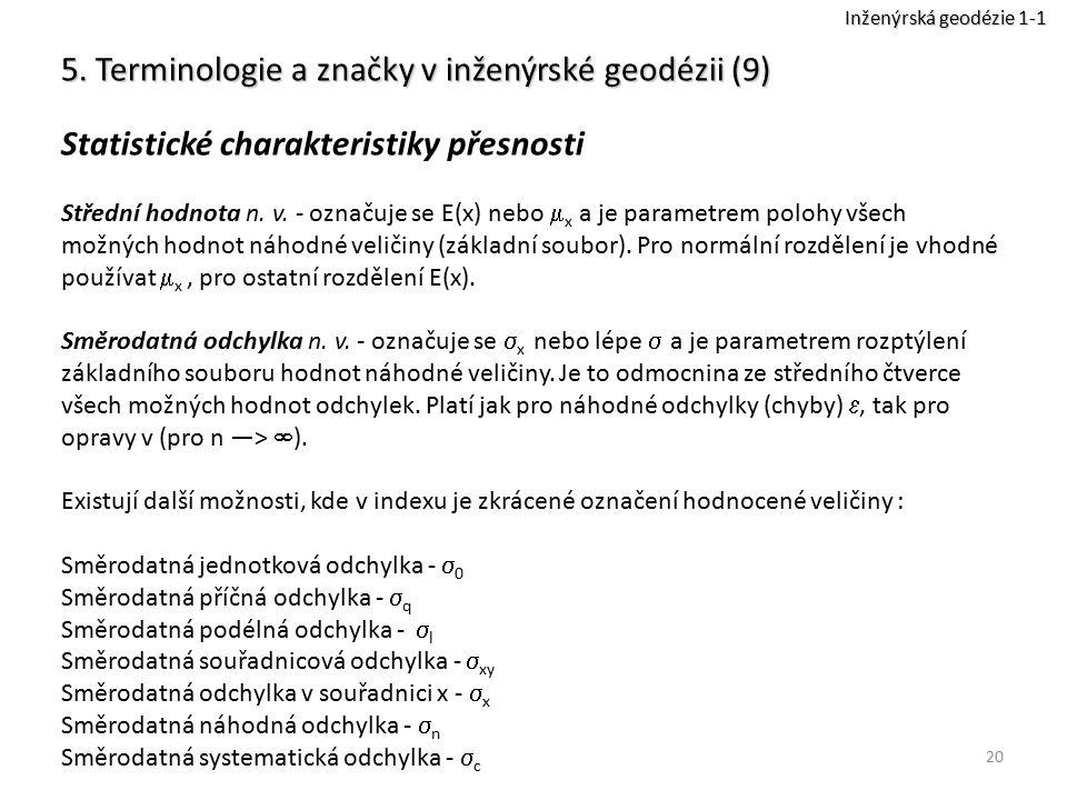 5. Terminologie a značky v inženýrské geodézii (9)