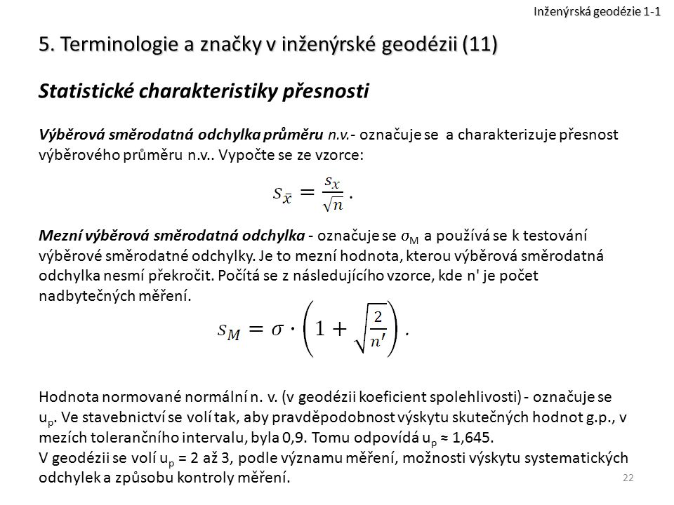 5. Terminologie a značky v inženýrské geodézii (11)