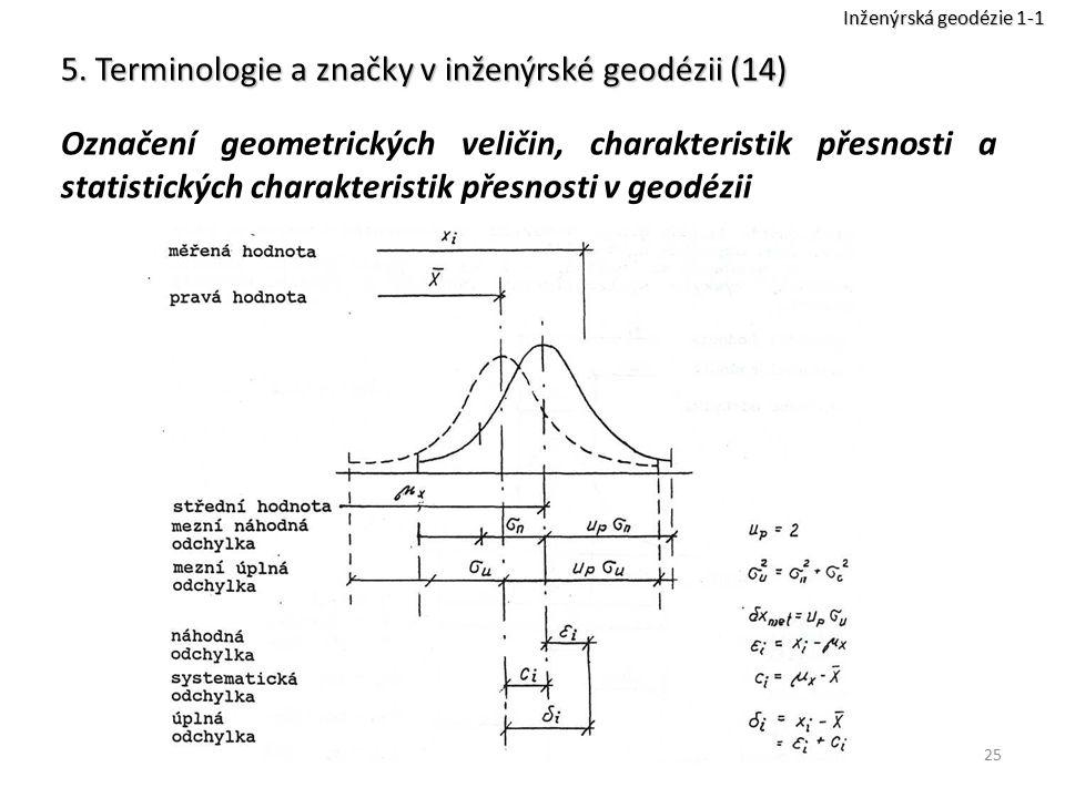 5. Terminologie a značky v inženýrské geodézii (14)