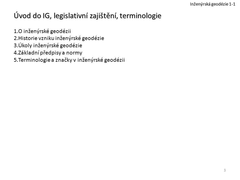Úvod do IG, legislativní zajištění, terminologie