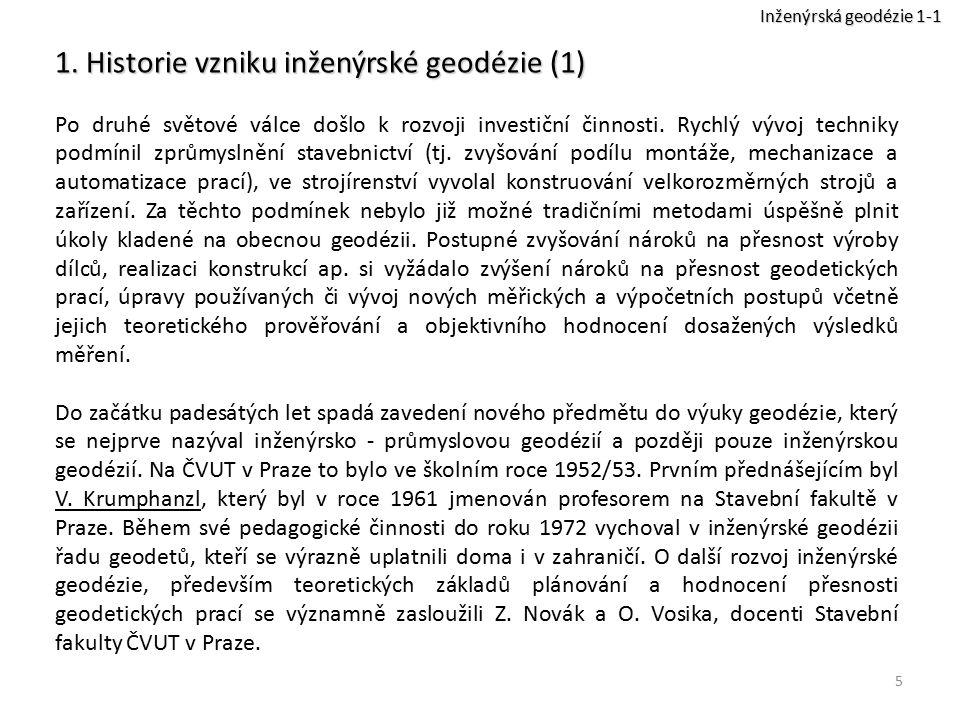 1. Historie vzniku inženýrské geodézie (1)