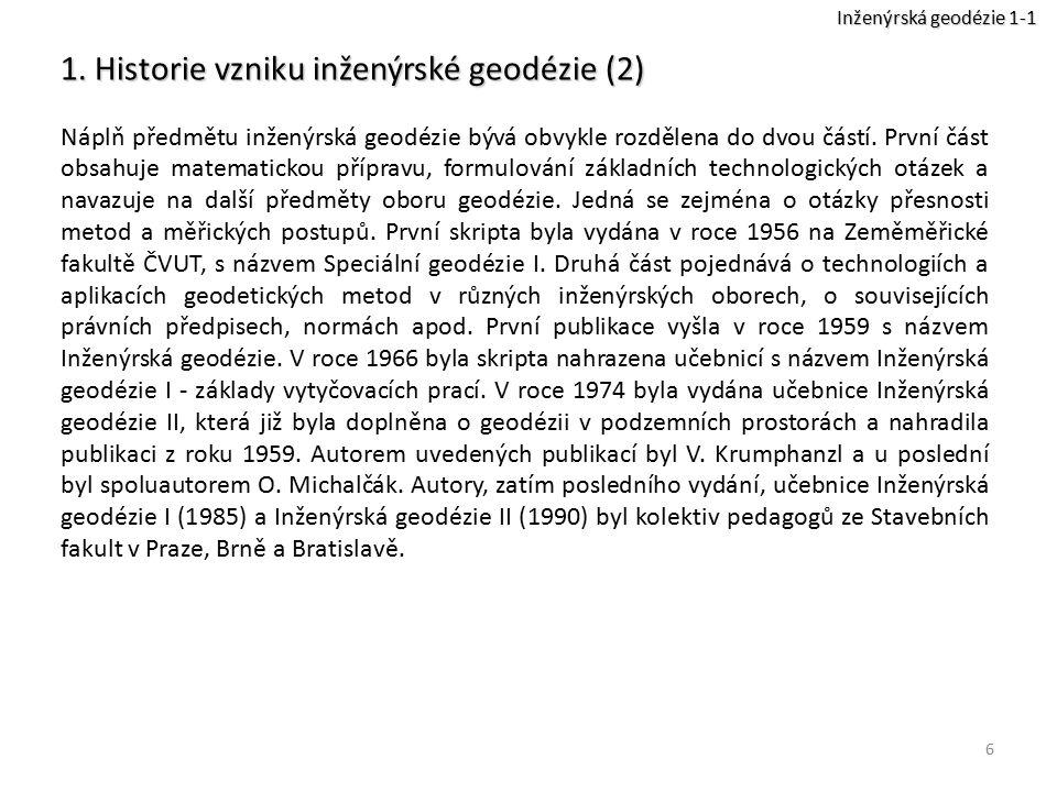 1. Historie vzniku inženýrské geodézie (2)
