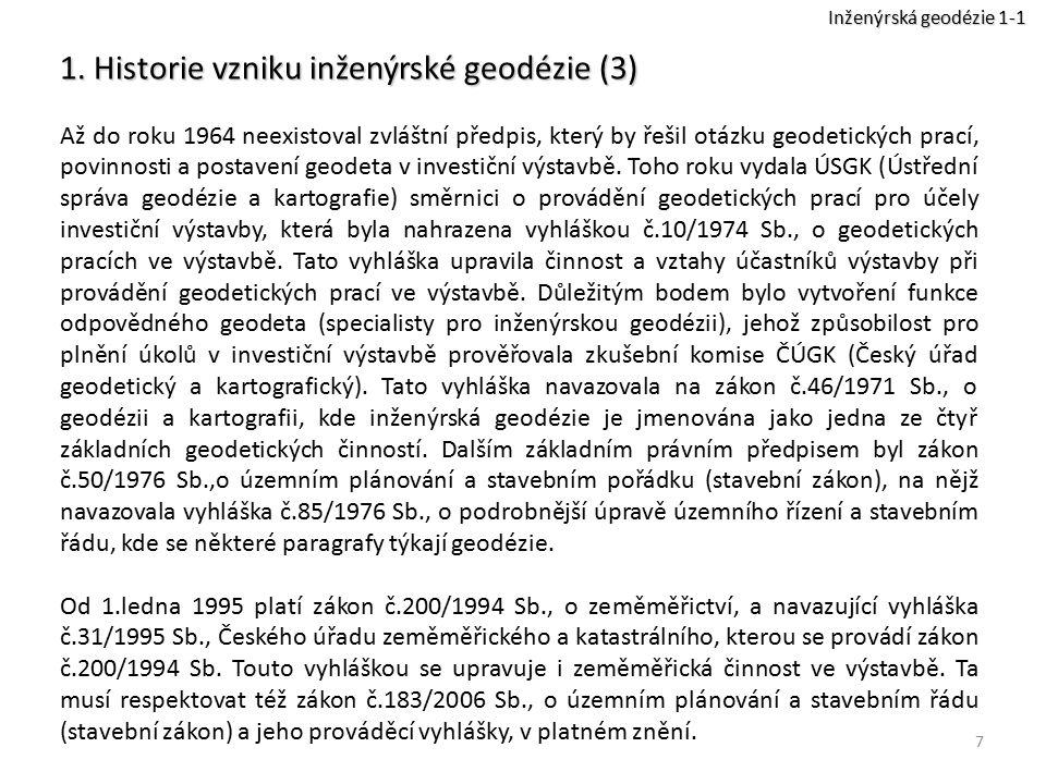 1. Historie vzniku inženýrské geodézie (3)