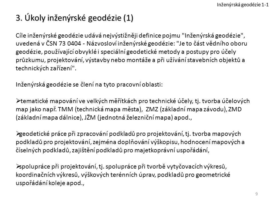 3. Úkoly inženýrské geodézie (1)
