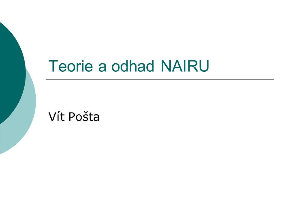 Teorie a odhad NAIRU Vít Pošta