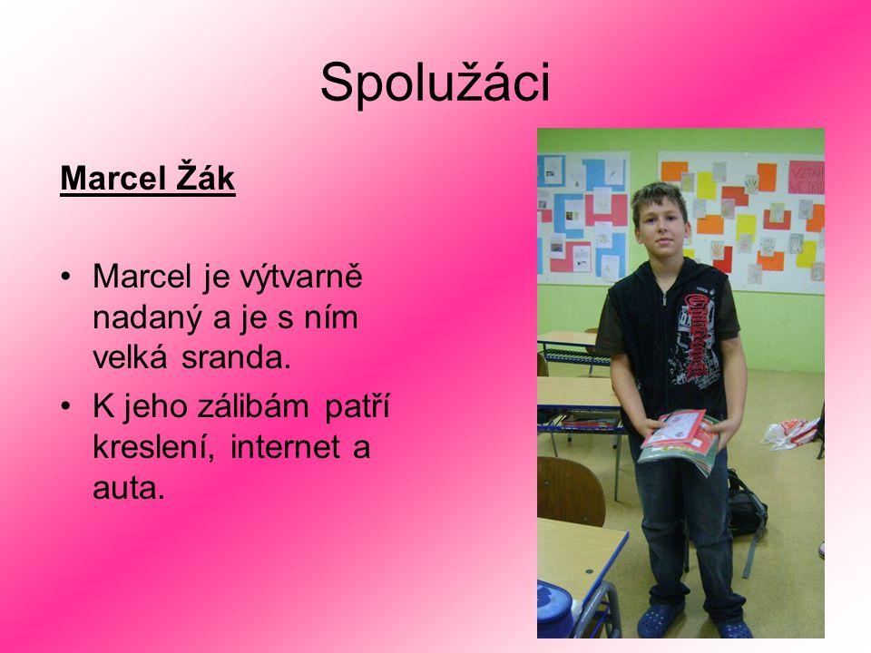 Spolužáci Marcel Žák. Marcel je výtvarně nadaný a je s ním velká sranda.