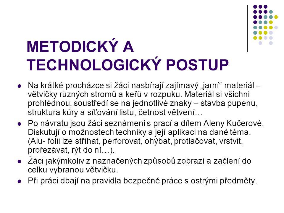 METODICKÝ A TECHNOLOGICKÝ POSTUP