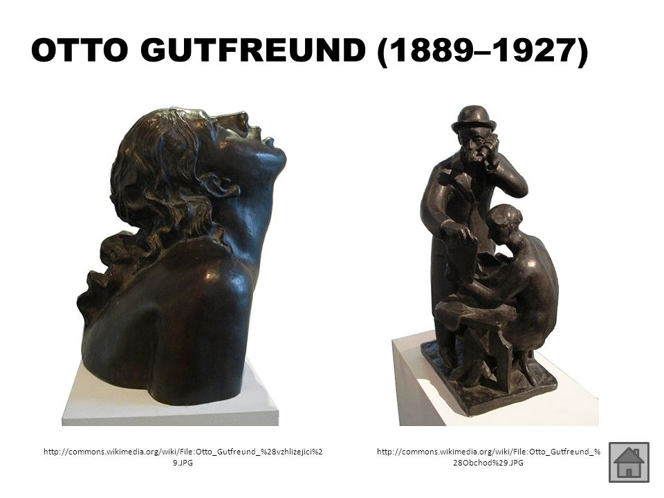 OTTO GUTFREUND (1889–1927) http://commons.wikimedia.org/wiki/File:Otto_Gutfreund_%28vzhlizejici%29.JPG.