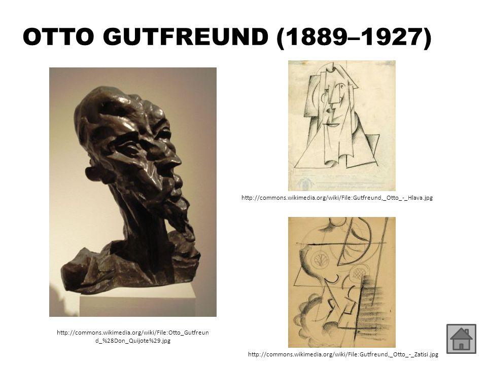 OTTO GUTFREUND (1889–1927) http://commons.wikimedia.org/wiki/File:Gutfreund,_Otto_-_Hlava.jpg.