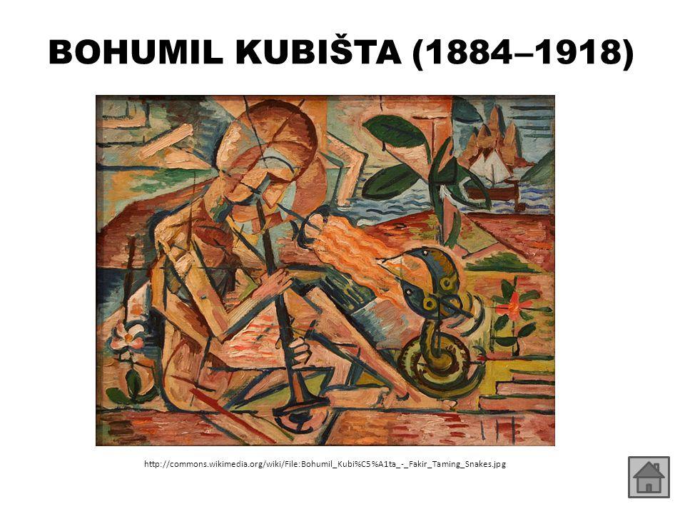 BOHUMIL KUBIŠTA (1884 –1918) http://commons.wikimedia.org/wiki/File:Bohumil_Kubi%C5%A1ta_-_Fakir_Taming_Snakes.jpg.