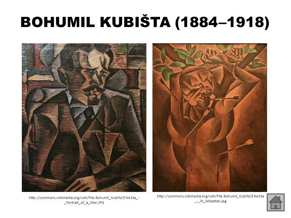 BOHUMIL KUBIŠTA (1884 –1918) http://commons.wikimedia.org/wiki/File:Bohumil_Kubi%C5%A1ta_-_Portrait_of_a_Man.JPG.