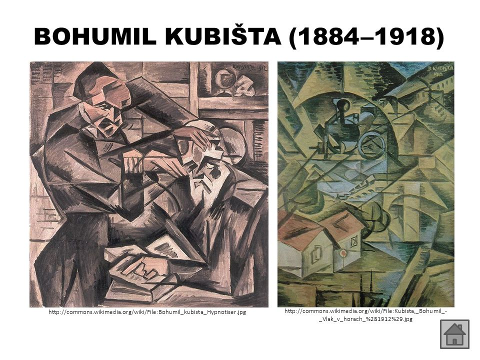 BOHUMIL KUBIŠTA (1884 –1918) http://commons.wikimedia.org/wiki/File:Bohumil_kubista_Hypnotiser.jpg.