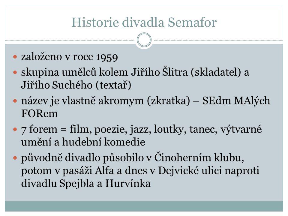 Historie divadla Semafor