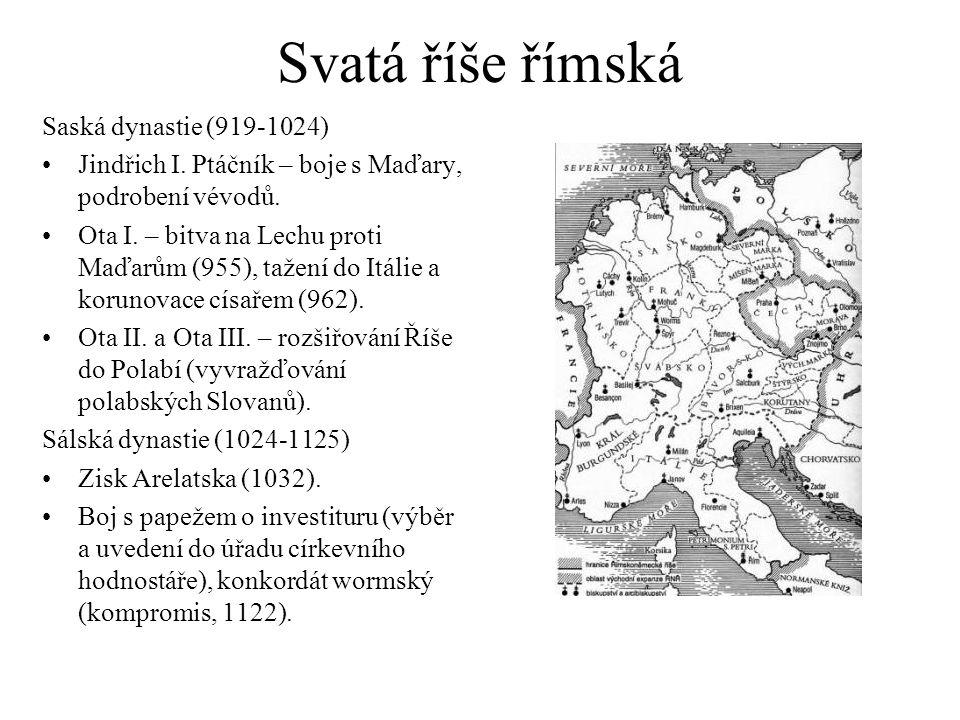 Svatá říše římská Saská dynastie (919-1024)
