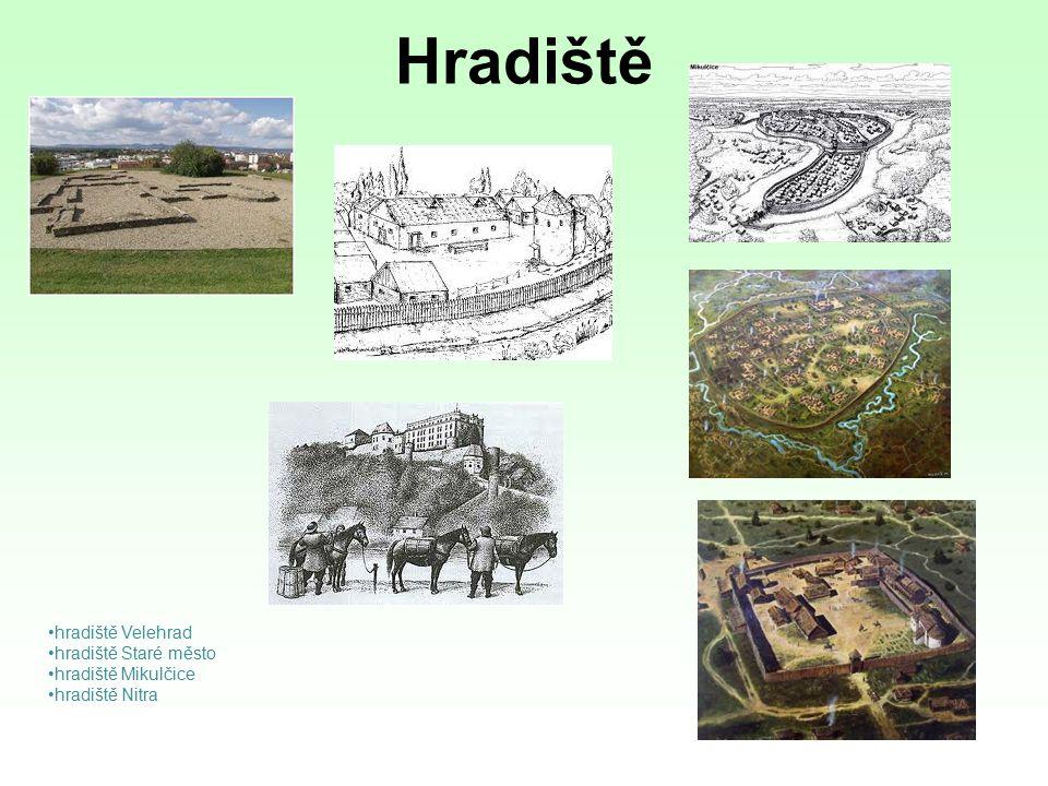 Hradiště hradiště Velehrad hradiště Staré město hradiště Mikulčice