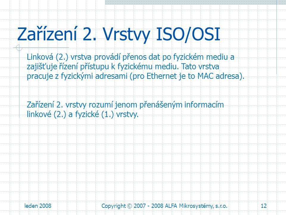 Zařízení 2. Vrstvy ISO/OSI