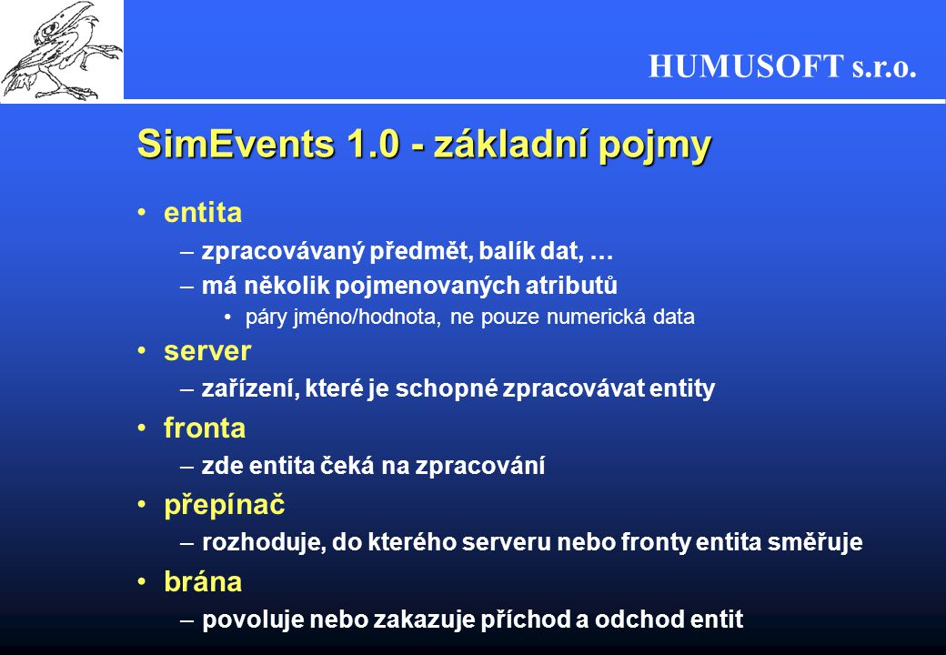 SimEvents 1.0 - základní pojmy