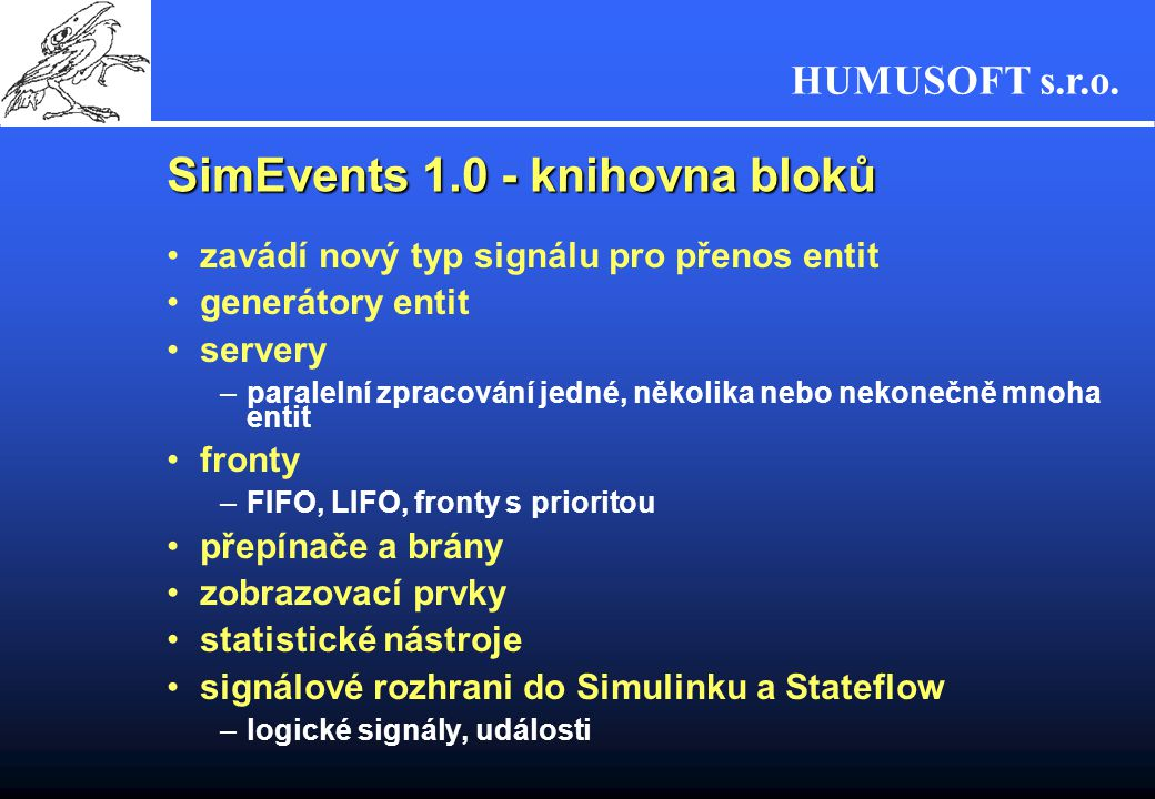 SimEvents 1.0 - knihovna bloků