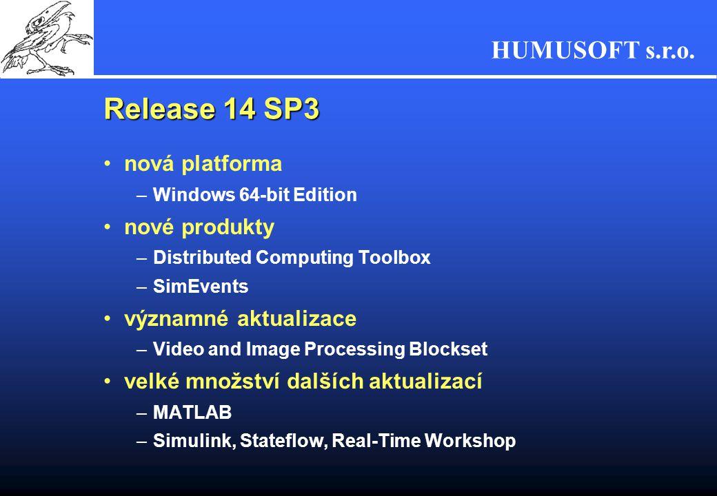 Release 14 SP3 nová platforma nové produkty významné aktualizace