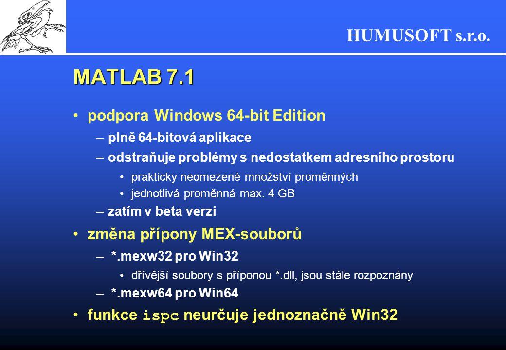 MATLAB 7.1 podpora Windows 64-bit Edition změna přípony MEX-souborů